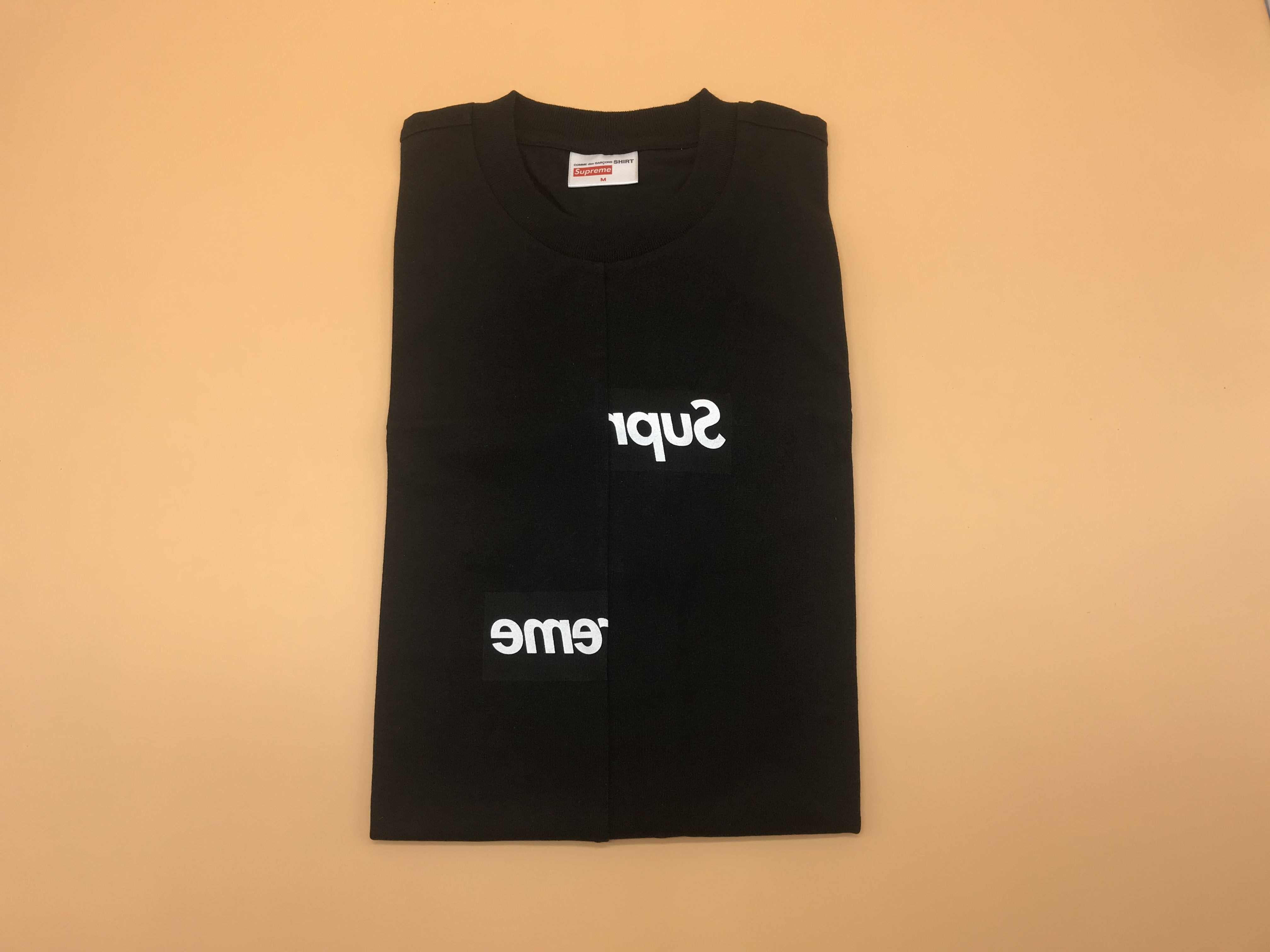 Supreme CDG Split Box Logo Tee - FW18 - Brand New